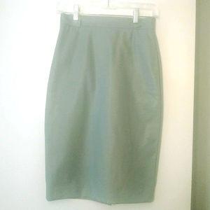 Dresses & Skirts - Blossom Mint Gray Vegan Faux Leather Pencil Skirt